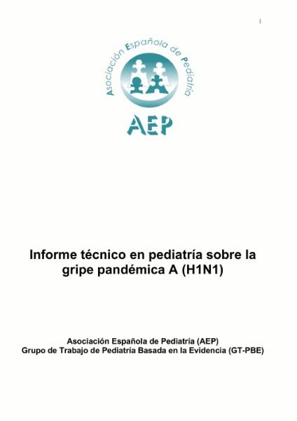 Informe t cnico en pediatr a sobre la gripe pand mica a for Portadas de f c e