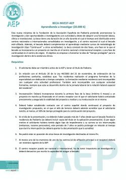 Beca INVEST-AEP Aprendiendo a Investigar 2020
