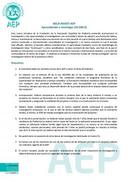 Beca INVEST-AEP Aprendiendo a Investigar 2021
