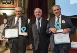 Ignacio Gómez de Terreros Sánchez y Francisco Ruza Tarrio con Serafín Málaga