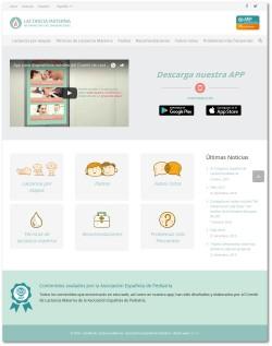 Página web de la  app del Comité de Lactancia Materna