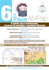 Cartel del 6º Taller de la AMPap para pedaitras