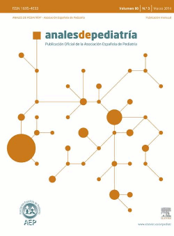 Portada de Anales de Pediatría